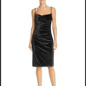New! LAUNDRY BY SHELLI SEGAL Ruched Velvet Dress